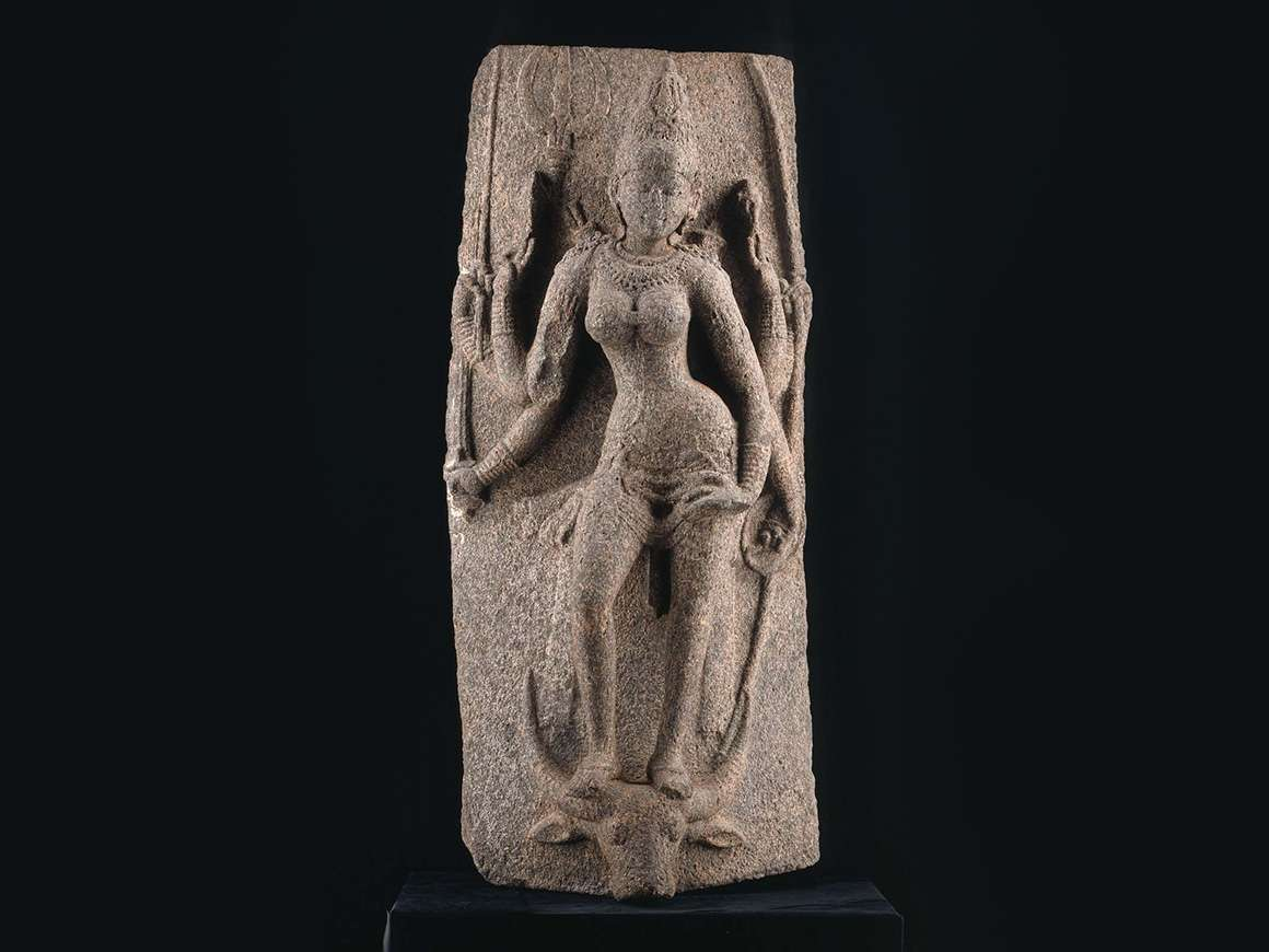 Durga as Mahishasuramardini (the Slayer of the Buffalo Demon,) Indian, Southern, early Chola period, 970–1070