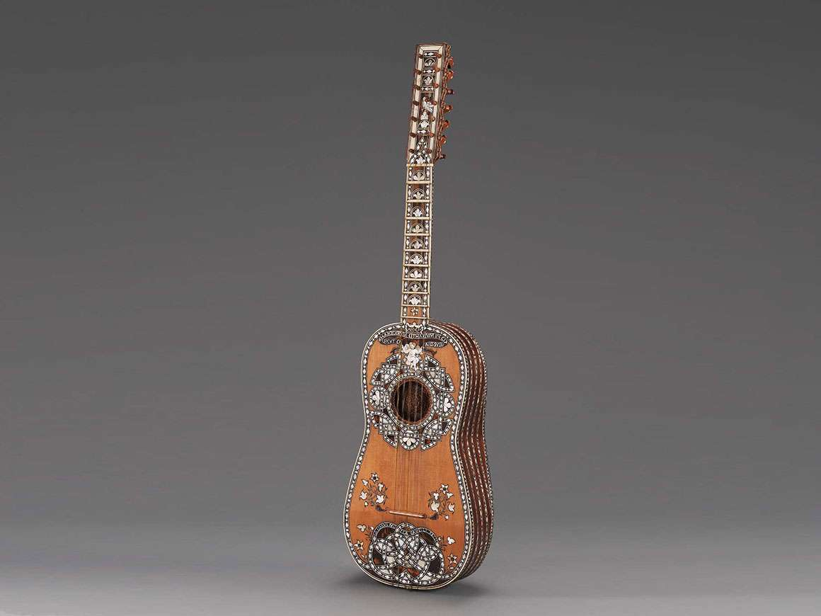 Guitar (chitarra battente) by Jacopo Mosca Cavelli, 1725