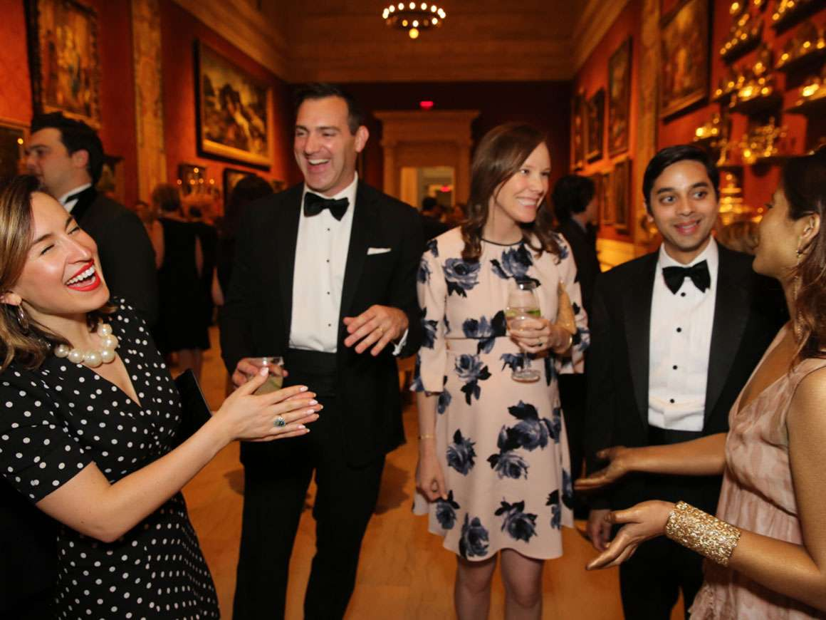2018 Summer Party attendees mingling in Koch Gallery