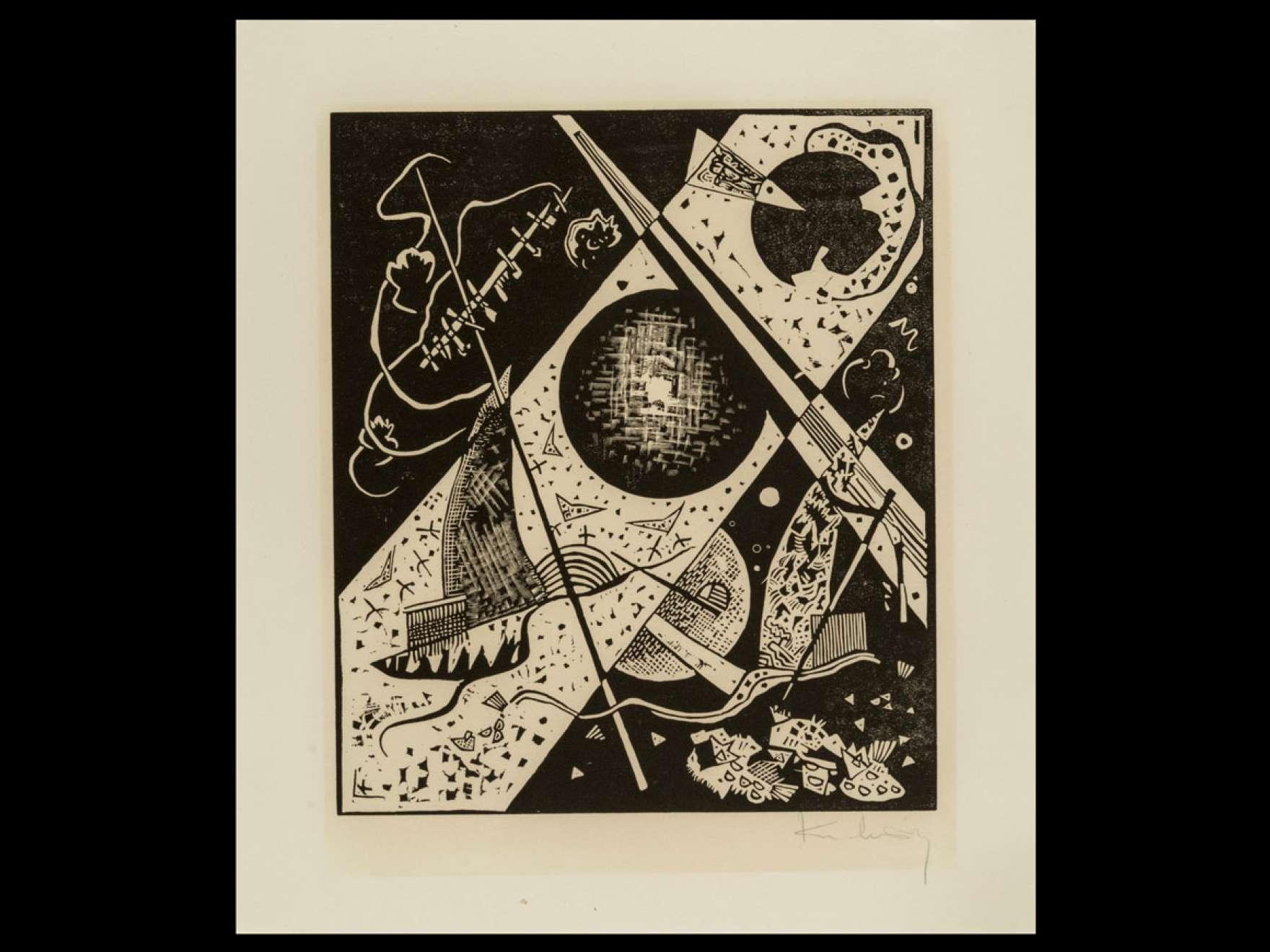 Wassily Kandinsky's print, Kleine Welten VI