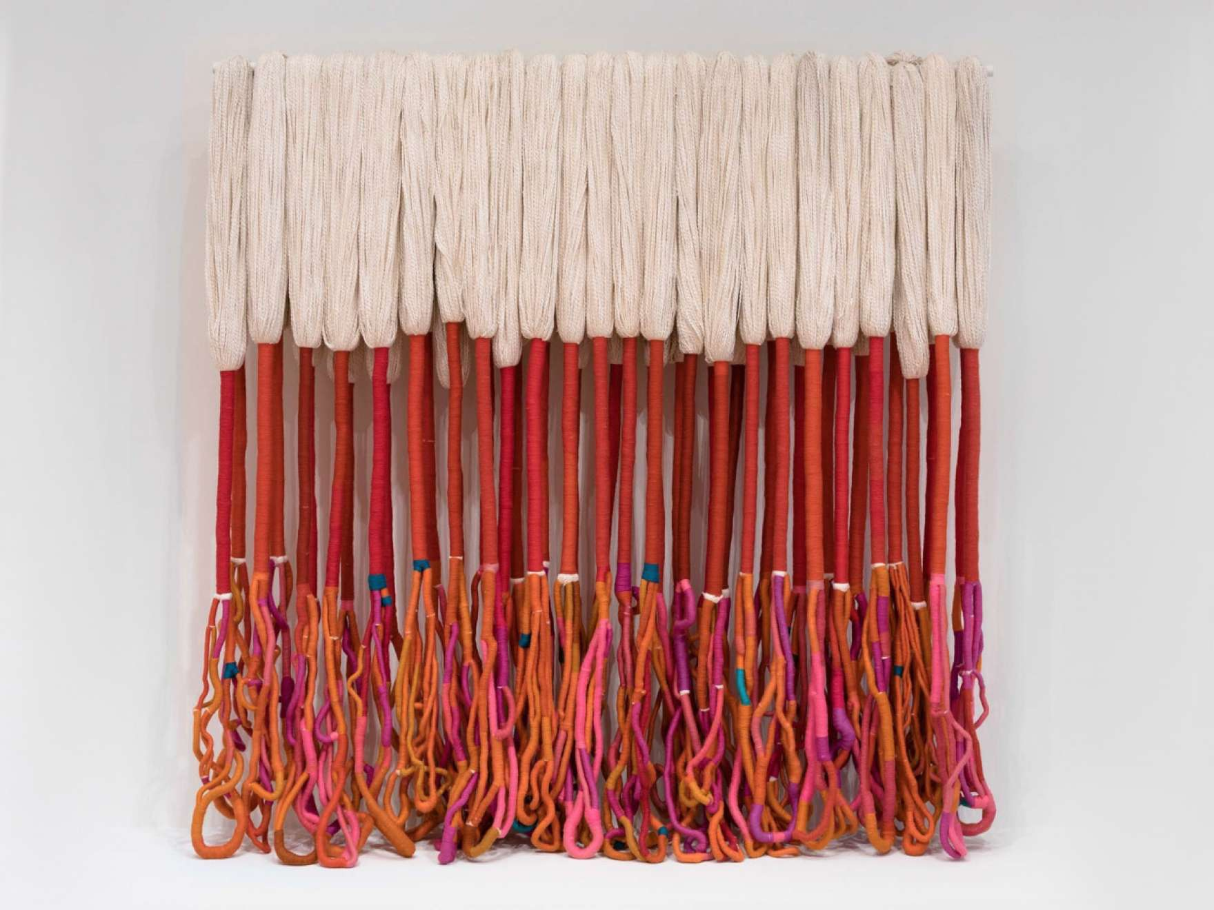 Sheila Hicks' wool and acrylic yarn piece, Bamian