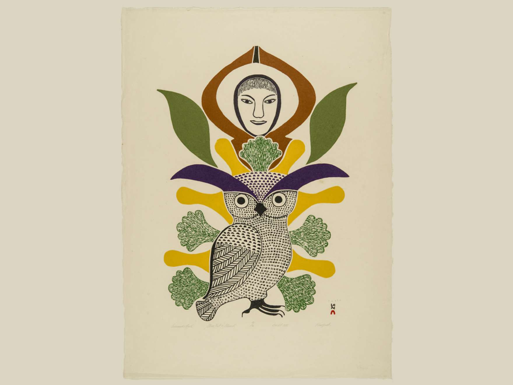 Print of Owl by Inuit Artist