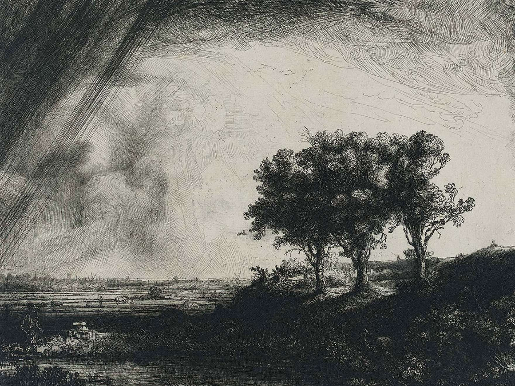Rembrandt Harmensz. van Rijn's print, The Three Trees