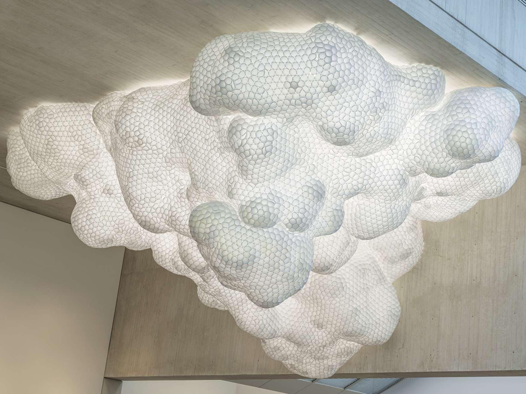 Tara Donovan's sculpture, in the shape of a cloud