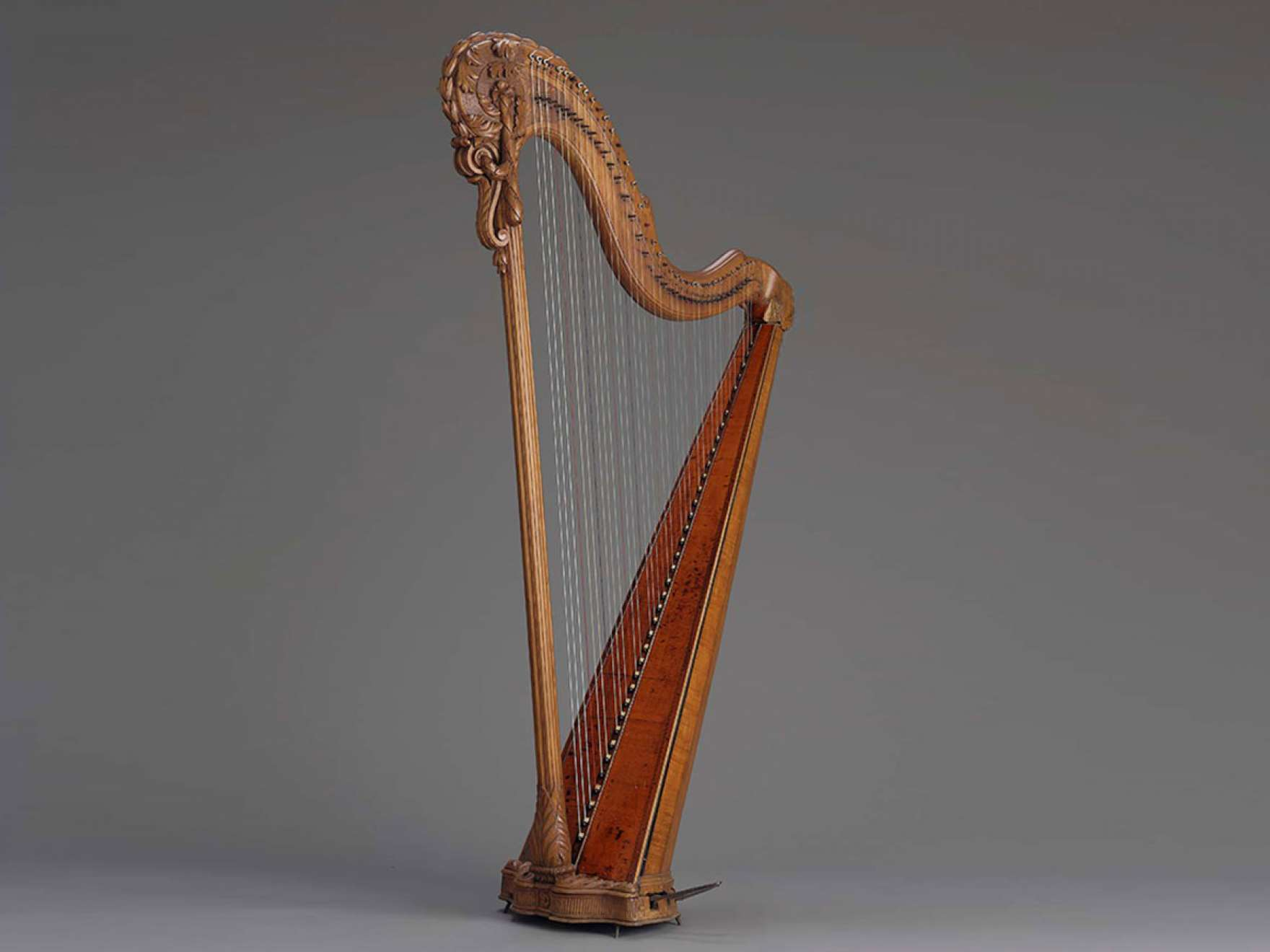 Pedal harp by Jean-Henri Naderman