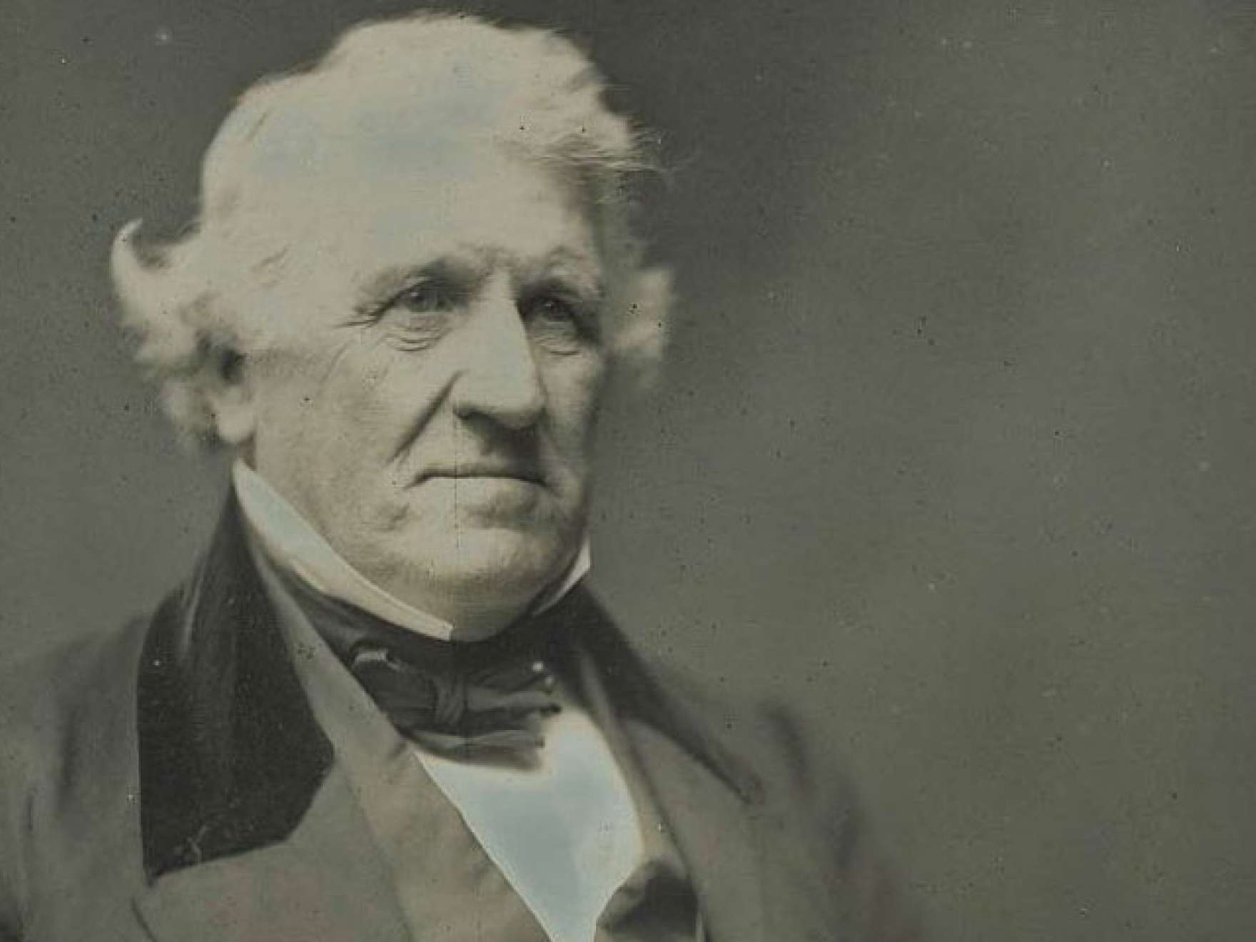 Detail of Southworth and Hawes' photograph (daguerreotype) of Benjamin F. French