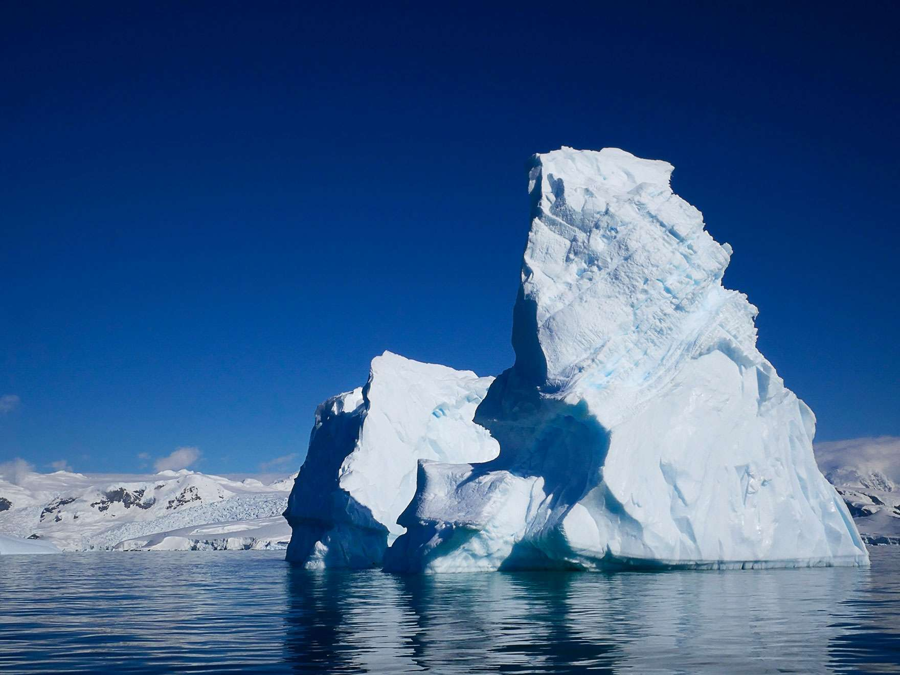 Right side of Georgie Friedman's photograph, Foyn Iceberg No. 1, from Antarctica Series