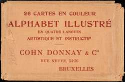 Alphabet Artistique 26 cartes en couleur alphabet illustrÉ en quatre langues artistique