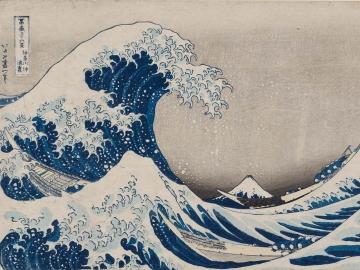 "Katsushika Hokusai, ""Under the Wave off Kanagawa (Kanagawa-oki nami-ura), also known  as the Great Wave, from the series Thirty-six Views of Mount Fuji  (Fugaku sanjûrokkei),"" about 1830–31"