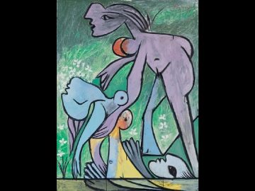 Pablo Picasso, The Rescue, 1932. Oil on Canvas. On loan from Fondation Beyeler, Basel, Switzerland. © Succession Picasso/ProLitteris, Zürich/Artists Rights Society (ARS), New York.