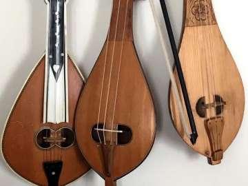 Three Greek lyras, photo courtesy of Beth_Bahia Cohen
