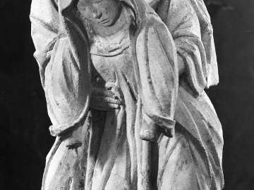 Mourning Virgin with Saint John from an Entombment
