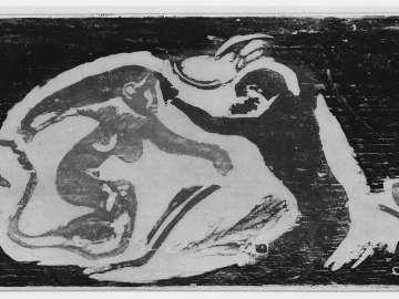 Sirène et Dieu marin (Mermaid and Ape)