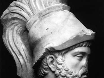 Helmeted head of the god Mars (Ares)