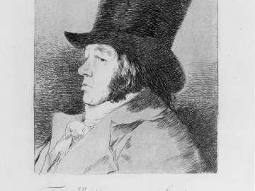Fran.co Goya y Lucientes, Pintor. (Francisco Goya y Lucientes, Painter); Plate 1 bound into