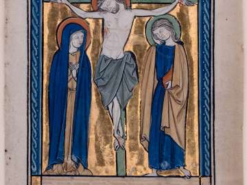 The Crucifixion (a Leaf from the Potocki Psalter)