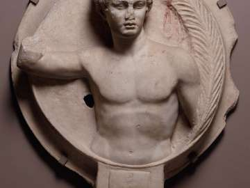 Relief depicting a victorious athlete