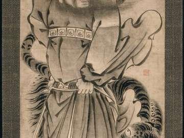 Zhong Kui (Shôki), the Demon Queller, and Tiger