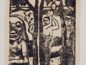 Femme ceuillant des fruits et Oviri (Woman Picking Fruit and the Savage)