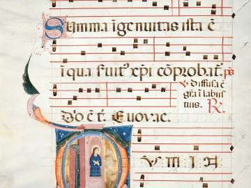 Leaf from an Antiphonary