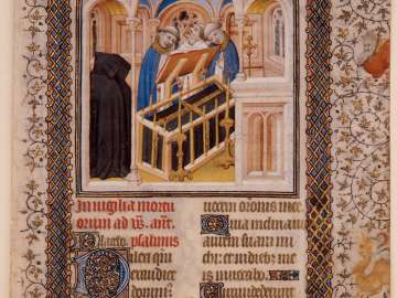 The Burial, Office of the Dead (Leaf from a Book of Hours)
