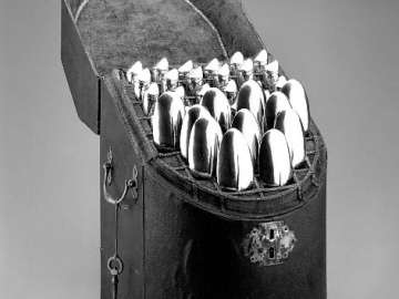 Set of Knives, Forks, Spoons in a Case