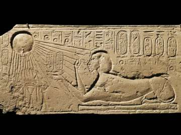 Relief of Akhenaten as a sphinx