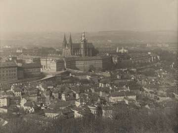 Saint Vitus, Prague, 1928, The Royal Palace and the Cathedral of Saint Vitus seen from Petrin from the portfolio Svàty Vit (Saint Vitus)