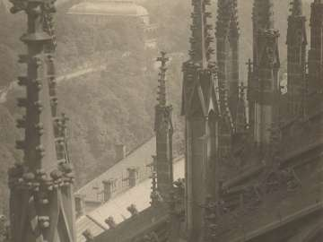 View from above the Pinnacles and Flying Buttresses of the Cathedral of Saint Vitus, north-side from the portfolio Svàty Vit (Saint Vitus)