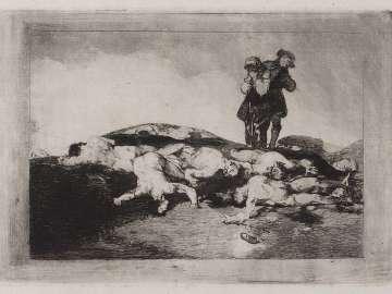 Enterrar y callar. (To Bury  and Keep Quiet); Fatales consequencias de la sangrienta guerra en España con Buonaparte. Y otros caprichos enfaticos [Disasters of War], plate 18.