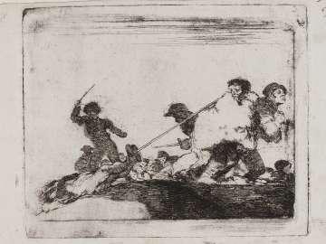 Lo merecia. (He deserved it); Fatales consequencias de la sangrienta guerra en España con Buonaparte. Y otros caprichos enfaticos [Disasters of War], plate 29.