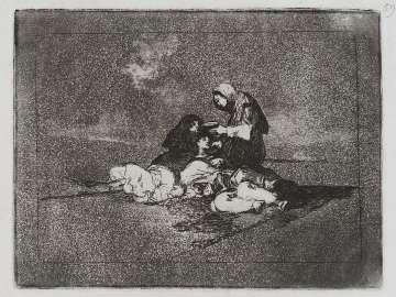 De qué sirve una taza? (Of what use is a cup?); Fatales consequencias de la sangrienta guerra en España con Buonaparte. Y otros caprichos enfaticos [Disasters of War], plate 59.