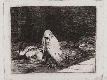 Las camas de la muerte. (The beds of death); Fatales consequencias de la sangrienta guerra en España con Buonaparte. Y otros caprichos enfaticos [Disasters of War], plate 62.