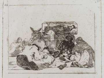 Extraña devocion! (Strange devotion!); Fatales consequencias de la sangrienta guerra en España con Buonaparte. Y otros caprichos enfaticos [Disasters of War], plate 66.