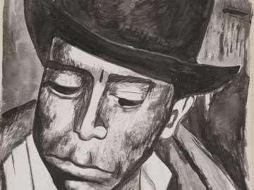 Portrait of a Man Wearing a Fedora