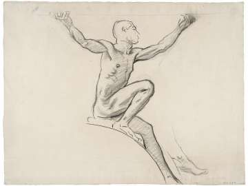 Sketch for Cartouche over Prometheus -Youth -  (MFA Rotunda)