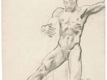 Sketch for Satyr and Maenad - Satyr - (MFA Rotunda)