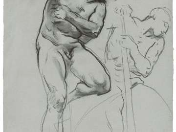 Sketch for the Sorrowful Mysteries - Adam - Boston Public Library Murals