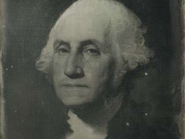 Painted Portrait of George Washington by Gilbert Stuart