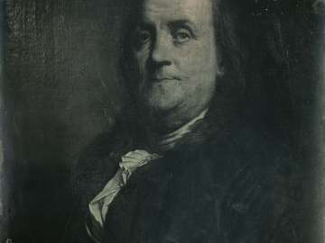 Painted Portrait of Benjamin Franklin, by Joseph Siffred Duplessis