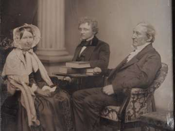 Francis James Child, Edward Tyrell Channing, and an Unidentified Woman