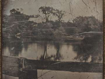 Landscape with Trees Reflected in Water