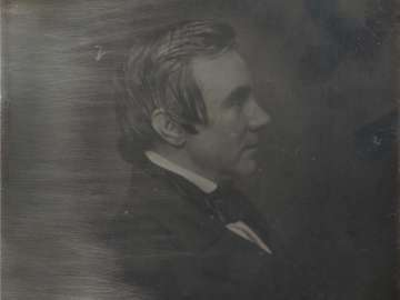 Man Facing Right, Profile, in Oval Vignette