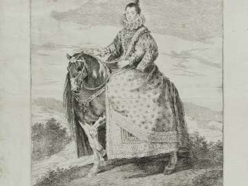 Margarita of Austria, Queen of Spain, on Horseback
