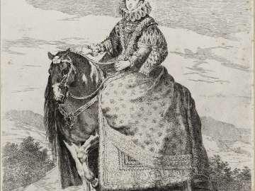 Margarita de Austria, Queen of Spain, on Horseback