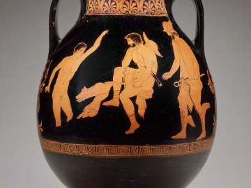 Jar (pelike) with Odysseus and Elpenor in the Underworld