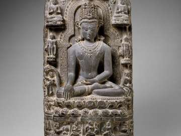 Shakyamuni Buddha with Scenes from His Life