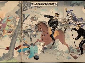 The Great Victory of Our Army at the Battle of Pyongyang (Heijô no gekisen waga gun dai shôri no zu)