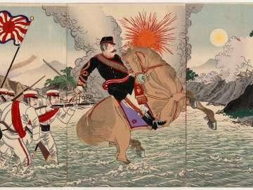 The Courageous Fight of Captain Matsuzaki During the Battle of Songhwan (Seikan no eki ni oite Matsuzaki taii yûsen no zu)
