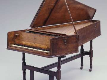 Harpsichord with additional piano action